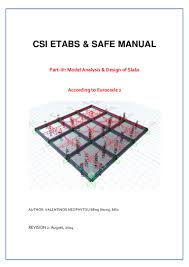 csi etabs u0026 safe manual slab analysis and design to ec2