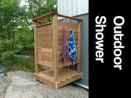 bathroom outdoor wooden shower cheap outdoor shower kits home