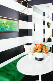 Dining Room Craft Room Combo - contemporary kitchen with black and white accent wall noz nozawa