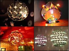 Repurposing Old Chandeliers Making Chandelier And Lamps With Old Cds Decorate Parties With Old