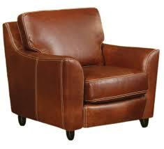 Home Decor Brown Leather Sofa Decor Brown Leather Chair By Old Hickory Tannery With Wood Legs