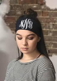 monogram headband monogrammed headband custom monogram initials headband by