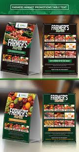 farmer u0027s market table tent table tents menu templates and brochures