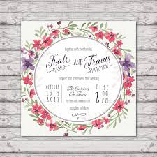 Invitation Cards To Print Lavender Watercolour Wedding Invitation Print At Home File Or