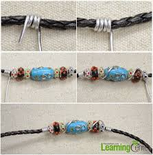 make bracelet with leather cord images Diy leather cord beaded bracelet ef zin creations jpg