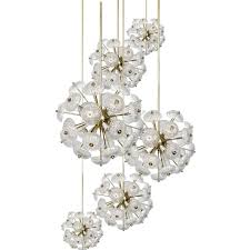 Cut Glass Chandeliers Brass U0026 Glass Chandeliers 1960s Set Of 6 For Sale At Pamono
