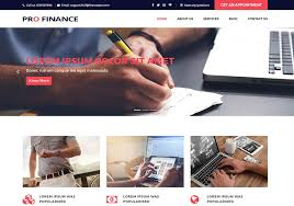 pro finance website templates free download for financial company
