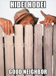 Wilson Meme - outdoor good neighbor fence awesome hidei hodei good neighbor