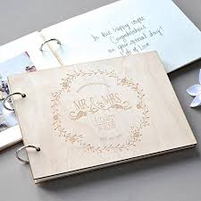 Rustic Wedding Guest Book Generic A4 With White Paper Rustic Wedding Guest Book