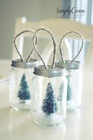 jar bottle brush tree ornaments jar crafts