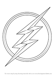 learn how to draw the flash symbol the flash step by step