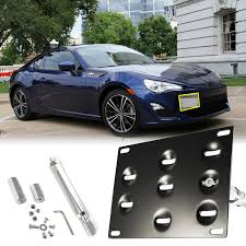 subaru scion toyota license plate mounting bracket front bumper tow hook for frs brz