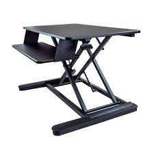 Sit Stand Desk Converter by Startech Com Sit Stand Desk Converter With 35 Inch Work Surface
