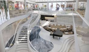 refurbished interiors of the shopping center klif in gdynia is