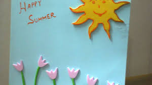 how to create a summer vacation wishes card diy crafts tutorial