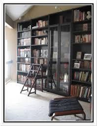 ikea hemnes bookcase glass doors office ideas pinterest
