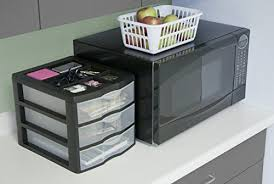 Small Desktop Drawers Amazon Com Sterilite 20439002 Medium 3 Drawer Desktop Unit Black