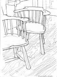 low back rustic windsor chairs sketch by gary cruce