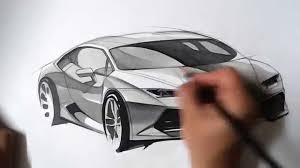 lamborghini front view 온스케치 tv car sketch