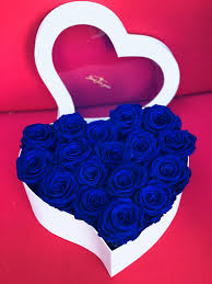roses in a box everlasting roses blue roses in a heart box in torrance ca