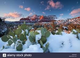 winter snow on schnebly hill coconino national forest sedona