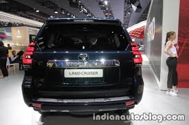 2018 toyota land cruiser prado facelift rear at iaa 2017