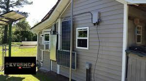 solar u0026 wind power shop shed gets vinyl siding installed pt 2 by