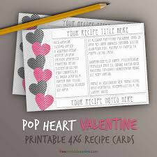 printable recipe cards template pop hearts recipe card template 4x6 free printables online