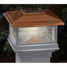 Led Solar Deck Lights - solar post cap deckorators 128975 solar led deck light 4