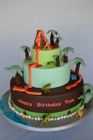 dinosaur cake 3 tier volcano and dinosaur bespoke cake celebration cakes