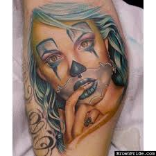 latina payasa tattoo by tatu baby brownpride com photo gallery bp