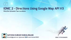 Map Direction Direction Between Two Location Using Google Map Api V3 And Ionic 2