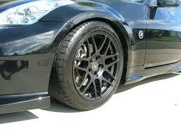 nissan 350z black rims nissan 350z with 18 inch matte black forgestar f14 forgestar