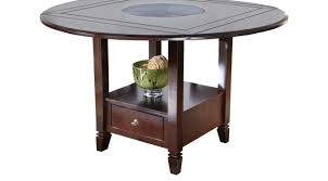 chocolate brown round counter height dining table casual