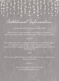 wedding gift list lewis dove grey fairy lights wedding invitation from 1 00 each