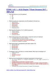 free ccna study guide ccna 1 v5 1 v6 0 chapter 7 exam answers 2017 u2013 100 full