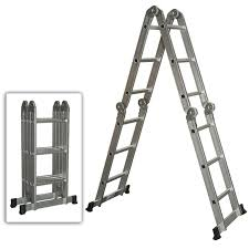 multi purpose aluminum ladder folding step ladder extendable heavy