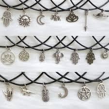leather choker charm necklace images Boho charm choker necklace boho necklace leather choker jpg