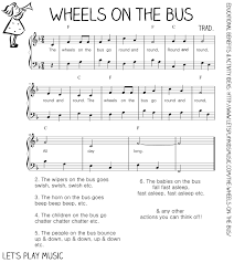 the wheels on the bus action song
