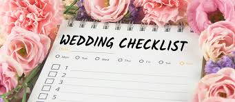 wedding planning a checklist before the wedding checklist