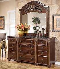 Glass Mirrored Bedroom Set Furniture Signature Design By Ashley Gabriela Traditional 9 Drawer Dresser