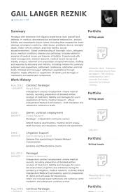 Sample Paralegal Resume With No Experience by Paralegal Resume Samples Visualcv Resume Samples Database