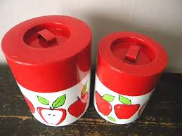 apple kitchen canisters vintage apple kitchen canisters 12 00 via etsy i my
