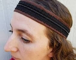 headbands for men men s leather hair accessory tie back vikings headband