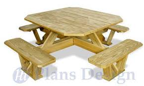 Free Wooden Picnic Table Plans by Traditional Square Picnic Table Benches Woodworking Plans Odf03