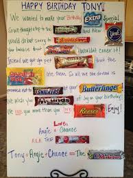 candy birthday card candy bar poster ideas with clever sayings