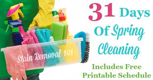 31 days of spring cleaning get the plan here