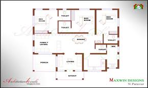 Single Family Home Plans by Bedroom House Plans Architecture Kerala Bhk Single Floor Kerala House