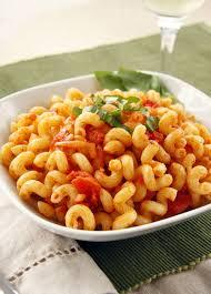 Five Cheese Marinara Sauce On Cavatappi Pasta With Chicken Meatballs - cavatappi amatriciana a carrabba s recipe redo by dashofeast
