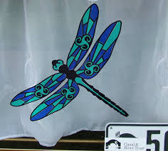 Stained Glass Window Decals Stained Glass Look Window Sticker Hippy Motors Car Stickers